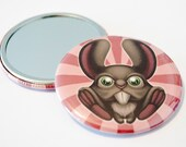 The Forest Dwellers - The little Hare - Art Pocket Mirror