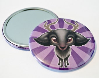 The Forest Dwellers - The little Stag - Art Pocket Mirror