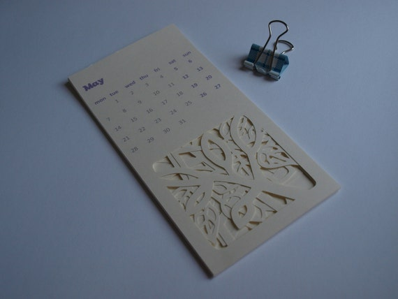Papercut Calendar - 13 months - starts with current month