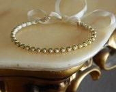 Antique Gold Mini Pearl Wrapped Friendship Bracelet