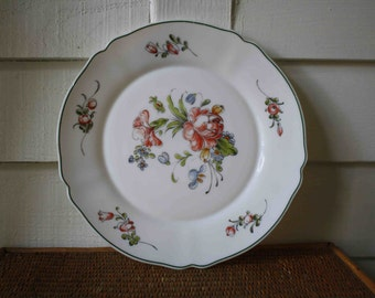 French floral plate, Arcopal