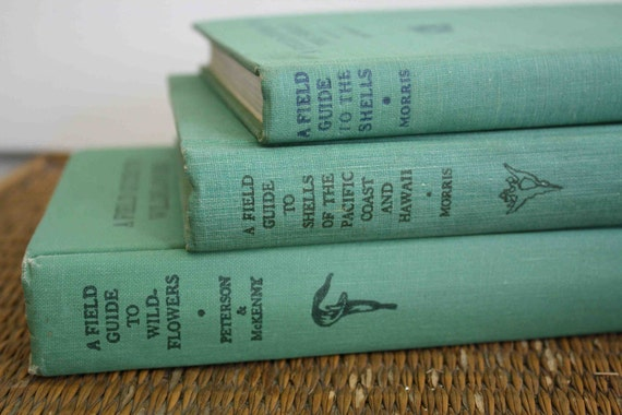 Vintage field guides from 1950s and 1960s