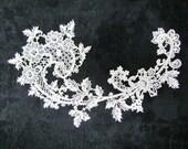 Large antique lace applique, ecru, late 1800's