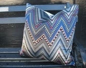 Designer Zig Zag Chevron Satin Pillow Cover