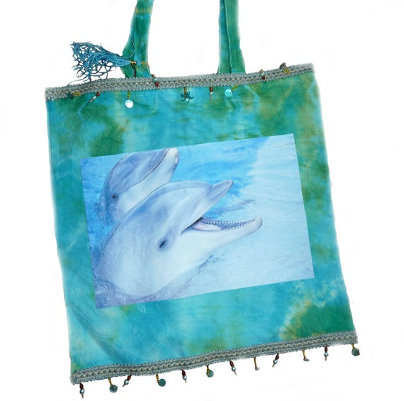 Dolphin Print Tote Bag
