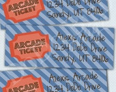 Arcade Return Address Labels Printable DIY