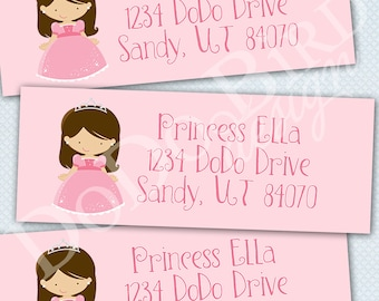Princess Return Address Labels Printable DIY