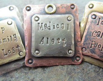 Pet Tags - Pet ID Tags - Mixed Metal Pet Tags- pet Accessories - Dog ID Tag - Dog Collar tag - Dog Tag - Pet ID tag - Engraved tag - Custom