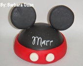 Forever to keep - 4 Inches Wide Inspired Mickey Mouse Clubhouse Personalized Cake topper for Birthday Party