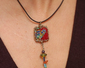 Red Square Pendant