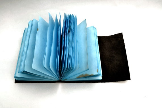 Imitation leather light blue journal, blanc, notebook, diary