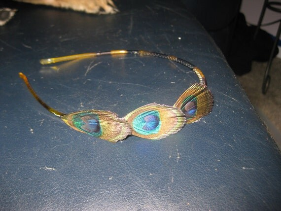 Simple but pretty peacock feather headband