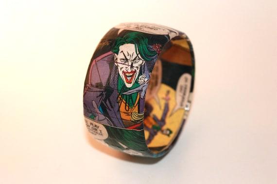 THE JOKER Comic Book Bangle Bracelet