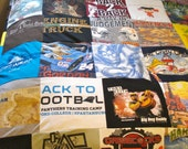upcycled tee shirt quilt- THROW SIZE