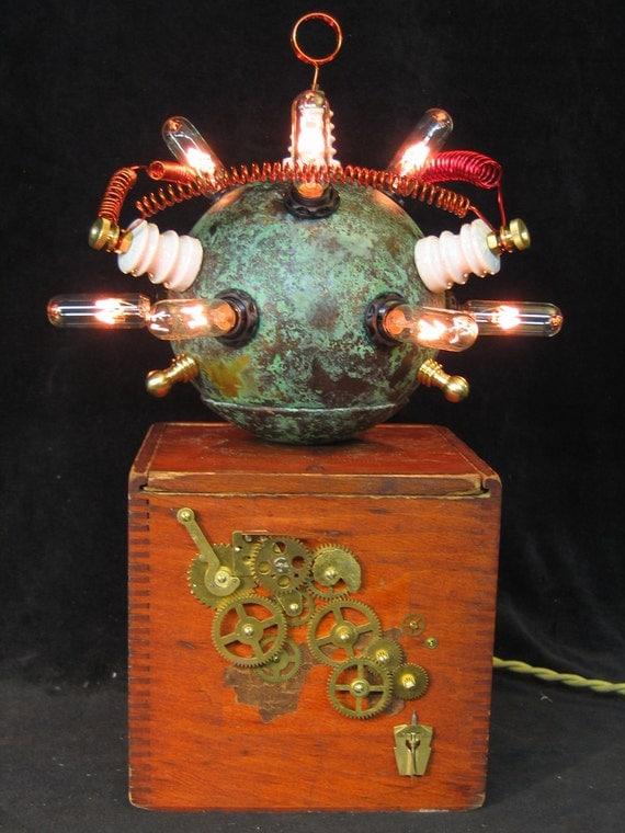 "Diabolical Box 26 Steampunk Mad Scientist ""Head Shot"""