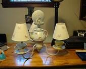 shabby chic hanging lamp/chandelier