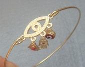 Evil Eye Bangle Bracelet Style 4