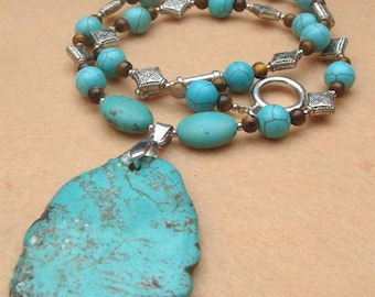 Tiger Eye Turquoise Necklace