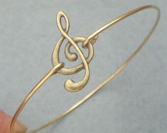 Musical Note Bangle Bracelet Style 2