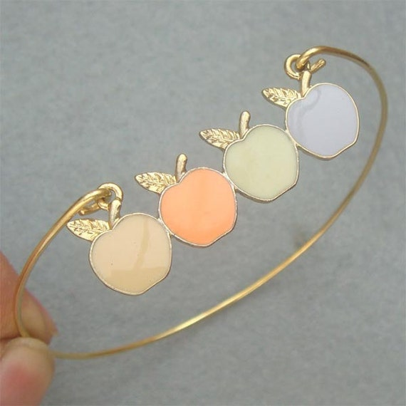 Apple Bangle Bracelet