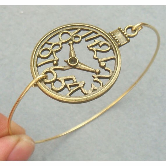 Clock Bangle Bracelet
