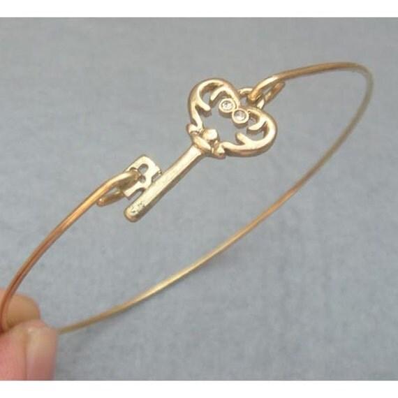 Key Brass Bangle Bracelet Style 6