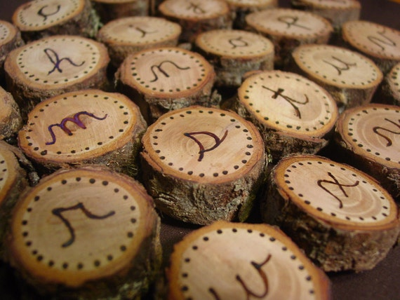 Cursive fridge magnets - abc letters - natural, wood burned, and Montessori approved