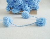 Pom Pom Garland Blue Garland Baby Boy Garland Baby Shower Garland