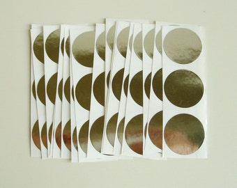 Envelope Seals Silver Stickers 1 Inch Round 60