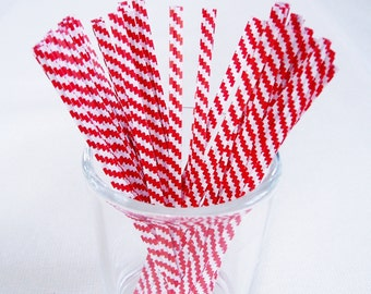 Twist Ties Red and White 4 Inch Set of 50 Paper Party Supplies Free Shipping