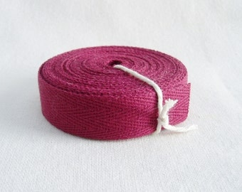 Twill Ribbon Tape Cotton Mulberry 5 Yards Hair Bows