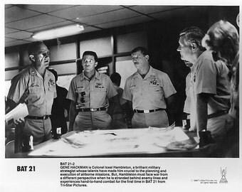 1988 Vintage Gene Hackman 8x10 Black and White Promotional Photograph - BAT 21