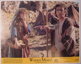 Vintage Lobby Card Dudley Moore and Laraine Newman Wholly Moses 1978 - Movie Promotion - James Coco - Paul Sand - Jack Gilford - Poster