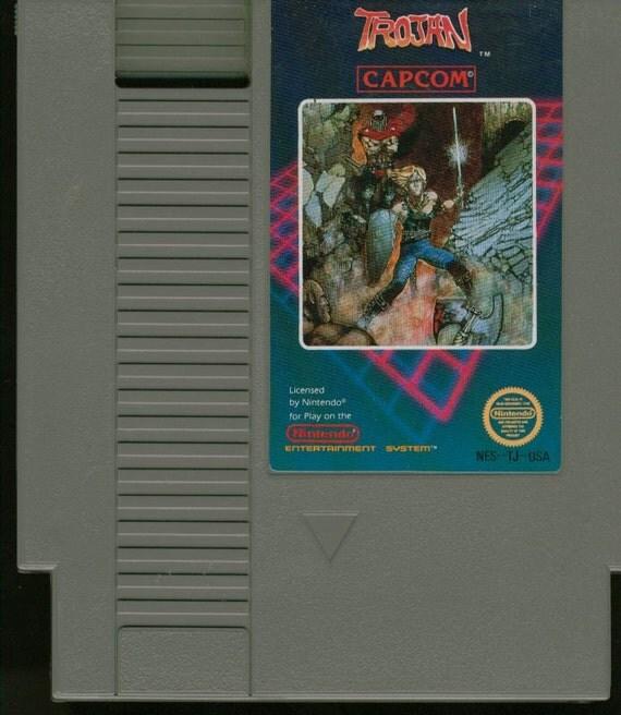 Vintage Nintendo Game Trojan Game (NES) By CAPCOM 8 bit