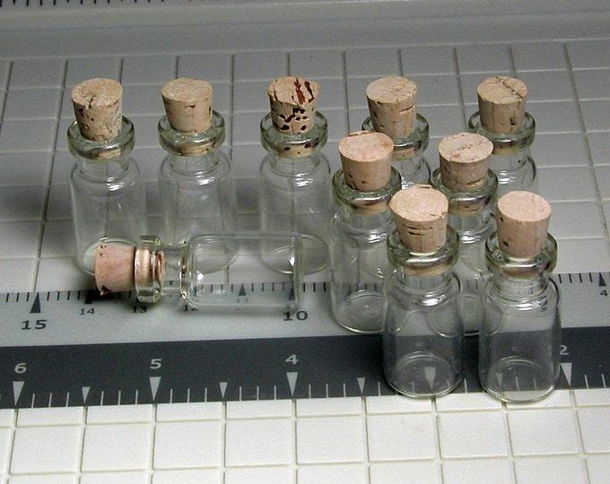 200 Miniature Bottles, Small, Glass Bottles, With Corks, Herbs, Liquids, Shells, Decorative Bottle, 3.0cm x 1.3cm, Potion, winterparkcollect