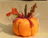 Rustic Harvest Fall Fabric Pumpkin - medium