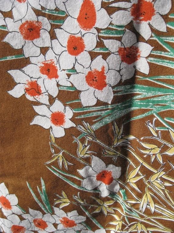 Vintage Vera Daffodil Tablecloth