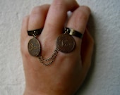double ring, slave ring, yes no, oui non, french style, vintage style, french words