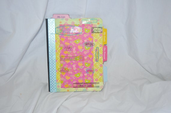 Journal-notebook embellished and tabbed