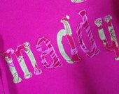 Custom  made Girls Applique Name Shirts/Onesie...Personalized Shirt or Onesie
