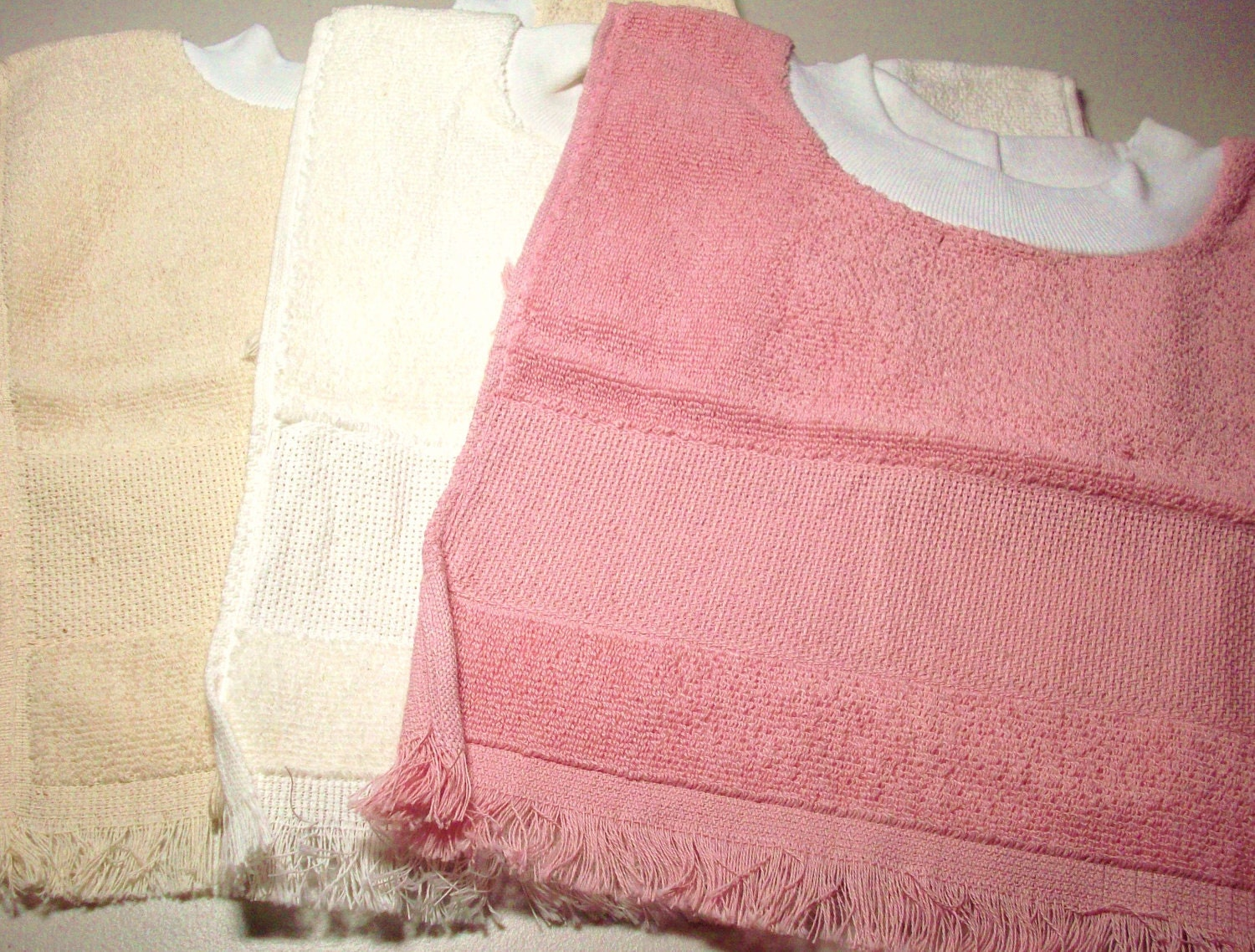Baby Bib Terry Cloth Counted Cross Stitch Blanks 3 In Set
