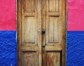 Door Photograph - Colorful Urban Photograph in Bogota, Colombia - 8 x 10 Print