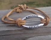 Kindred Spirit Leather and Metalwork Bracelet