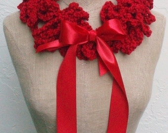 Red Neckwarmer with Bow