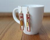 vintage 1980s art deco inspired earrings
