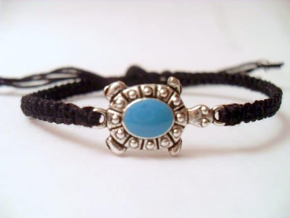 Little TurquoiseTurtle - Micro Friendship Bracelet - Pick Your Own Color