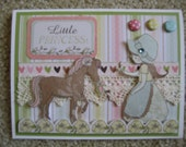 Little Princess with Her Pony Birthday Card