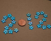 Pretty Nice Blue Flower Rhinestone for Art Crafting Jewelry Making Brooches Clothing Decorations