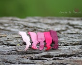 Raspberry collection, set of 5 hair ties