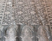 Royal Kashmiri Silk Scarf -  Grey - Subtle and gorgeous print